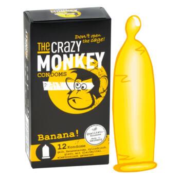 Crazy Monkey - banános óvszer (12db)