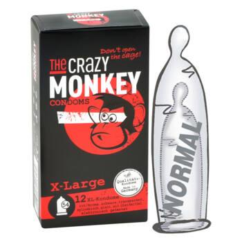 Crazy Monkey - XL-es, ízes óvszer mix (12db)