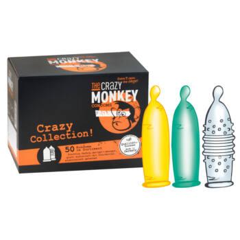 Crazy Monkey Collection - óvszer válogatás (50db)