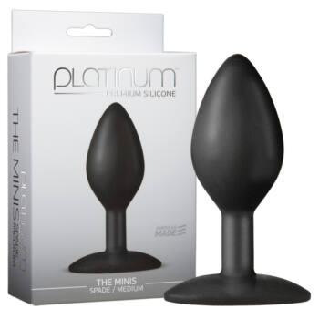 Doc Johnson Platinum - közepes anál dildó (fekete)