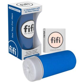 FIFI - maszturbátor mandzsettával (kék)