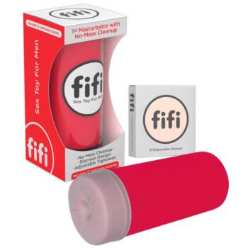 FIFI - maszturbátor mandzsettával (piros)