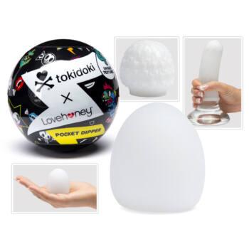 Tokidoki - rugalmas gömb maszturbátor (áttetsző)