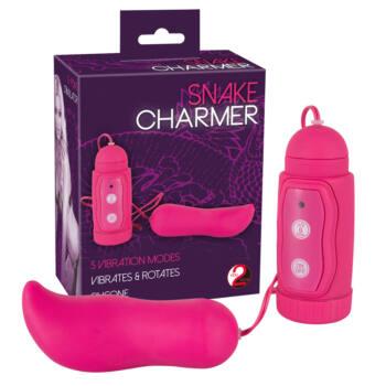 Snake Charmer - rotáló vibrációs tojás (pink)