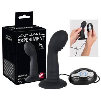 Experiment - Hajlított anál vibrátor (fekete)