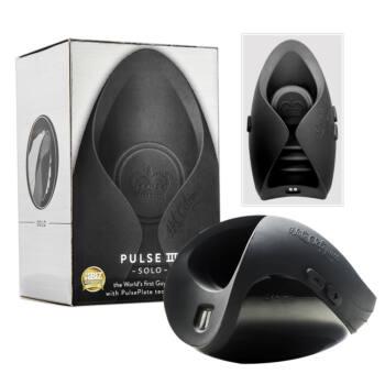 Pulse III Solo - újratölthető péniszvibrátor (fekete)