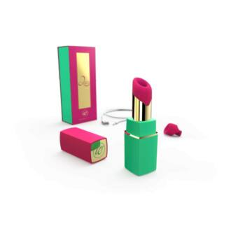 Womanizer 2GO - csiklóizgató (zöld-magenta)