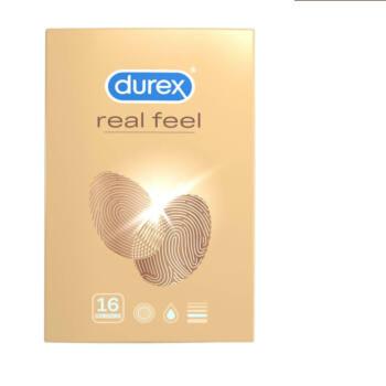 Durex Real Feel - latexmentes óvszer (16db)