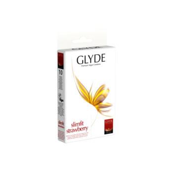 GLYDE vegán óvszer - Slimfit eper (10db)