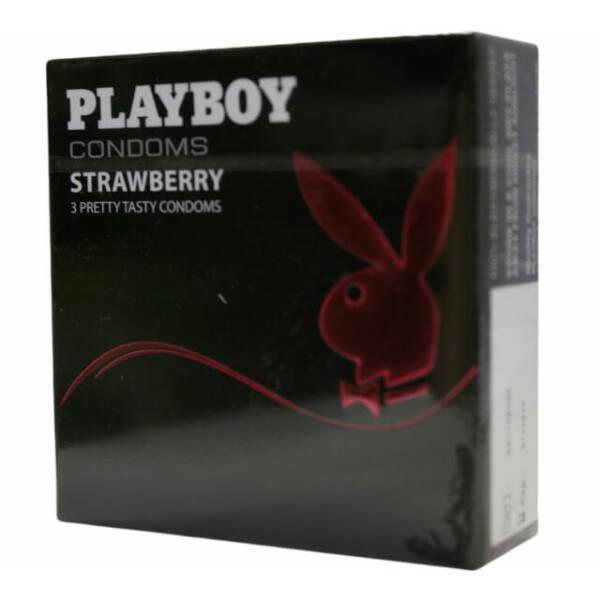 Playboy Strawberry - epres óvszer (3db)