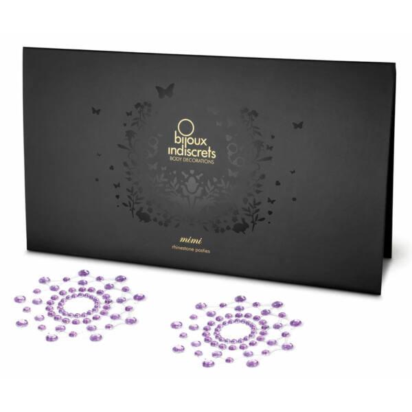 Csillogó gyémántok bimbómatrica (lila)