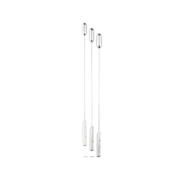 SINNER 181 - kapszulás acél húgycsőtágító dildó szett (nagy) - 3db