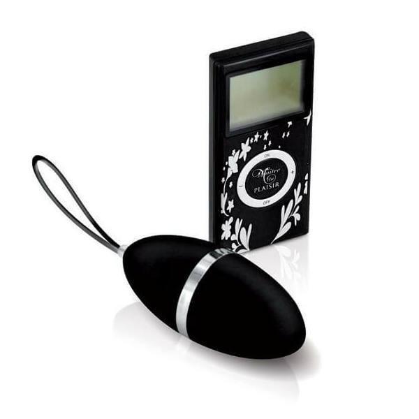 Pleaisirs Secrets - rádiós vibrációs tojás (fekete)
