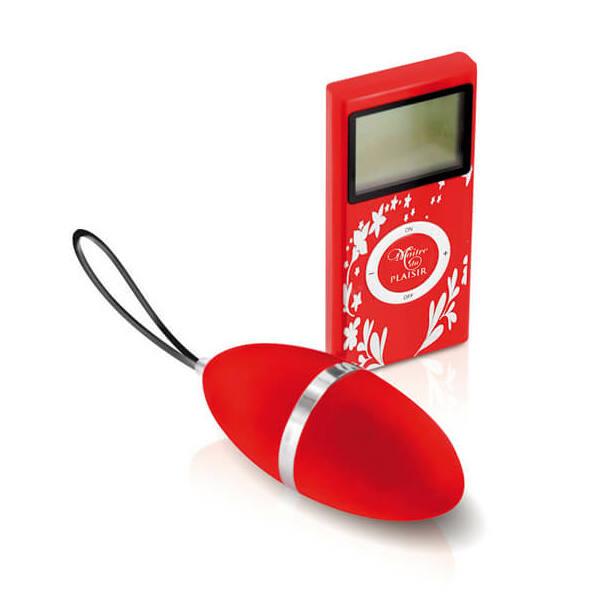Pleaisirs Secrets - rádiós vibrációs tojás (piros)